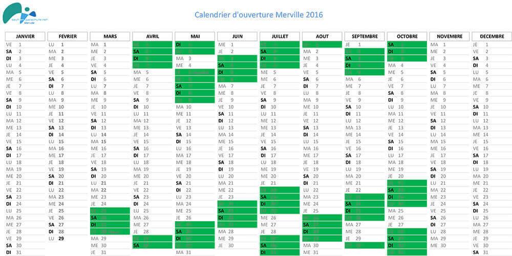 Planning parachutisme Merville Nord 2016
