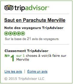 Avis Tripadvisor Saut en parachute Merville
